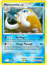 Mamoswine 9/146 Holo Rare Legends Awakened Pokemon Card - $1.99