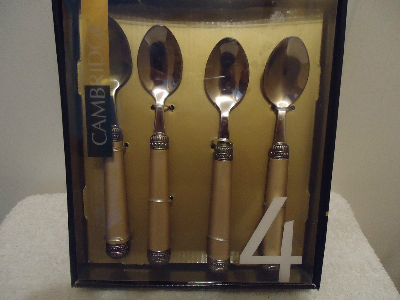 Cambridge Set of 4 Demitasse Spoons with 25 yr warranty