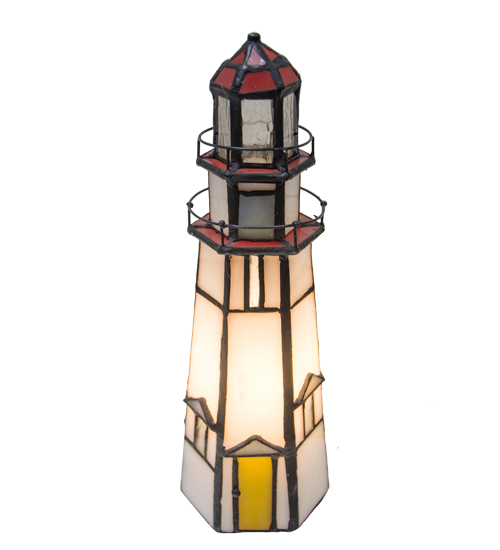 "9""H The Lighthouse on Marble Head Accent Lamp"