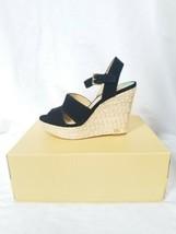 Michael Koes Taylor black suede Wedge heel sandals size 8 - $92.45