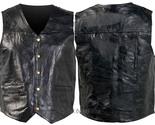 Mens black leather vest combo gfvs 1800 thumb155 crop