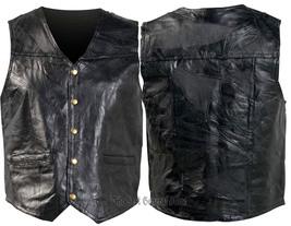 Mens black leather vest combo gfvs 1800 thumb200
