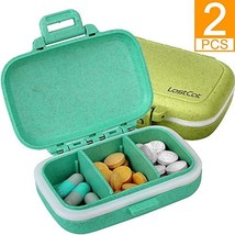 LOSTCAT 2PCS Pill Case, Upgraded Small Pill Box (Wheat Straw Environment... - $8.90