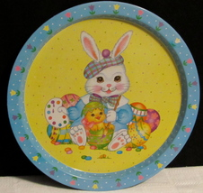 """Giftco Inc Metal/Tin Tray """"Easter Bunny & Easter Eggs"""""""