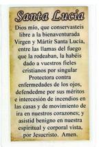 Laminated Prayer Card with Scapular Santa Lucia - L161.0242 image 2