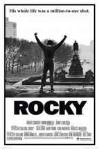 rocky movie poster 24x36 his whole life was a million to one shot.  - $23.00