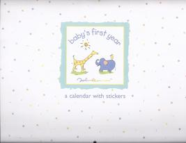 BABY'S FIRST YEAR - characters by John Lennon calender with stickers, New - $13.95