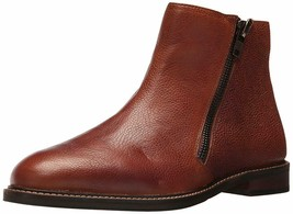 Kenneth Cole Reaction Side Zipper Chelsea Cognac Pebbled Leather Ankle B... - €80,34 EUR