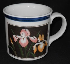 OTAGIRI ~ Pink & Orange Iris Flowers ~ Coffee C... - $64.95