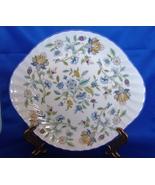 Minton  (UK) Bone China Haddon Hall Blue Serving/Cake Plate - $12.99