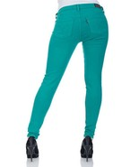 LEVIS 535 LEGGING Jeans Ultra Low Rise Stretch Skinny Pencil TEAL GREEN ... - $29.67