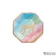 Watercolor Rainbow Paper Dessert Plates - $2.36