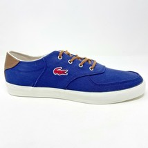 Lacoste Glendon 2 SRM Canvas Leather Blue Mens Size 12 Casual Sneakers - $69.95