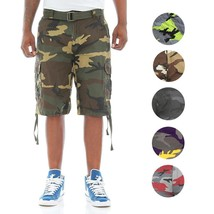 Ablanche Men's Tactical Combat Military Army Twill Camo Cargo Shorts With Belt