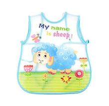 PANDA SUPERSTORE Creative Zoo Sheep Pattern Children Smocks Waterproof Aprons Ki