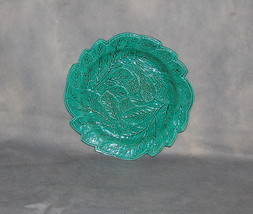 Antique English Pottery Creamware Green Glazed Leaf Plate - $275.00