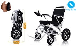 Plegable Liviano Silla de Ruedas Eléctrica Médico Movilidad Motorizado Blk - $1,797.20