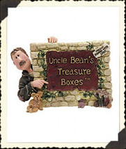 "Boyds Treasure Box ""Uncle Bean & the McNibble Gang""  Resin Sign- #3999 -1E- 2000 - $19.99"