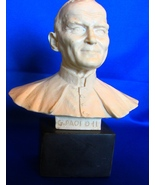 1970's POPE JOHN PAUL II BUST Signed by A. Santini Italian Sculpture Resin - $29.99