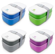 Stackable Lunch Box Storage Food Containers Work School Meal Compact Pic... - $22.99