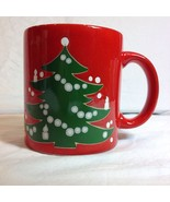 Waechtersbach Germany Christmas Tree Mug Garland Candles Red Green White - $24.26