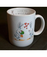 Bunny Rabbit Mug I Love You a Whole Bunch Easter Surprise Hearts Papel J... - $24.26