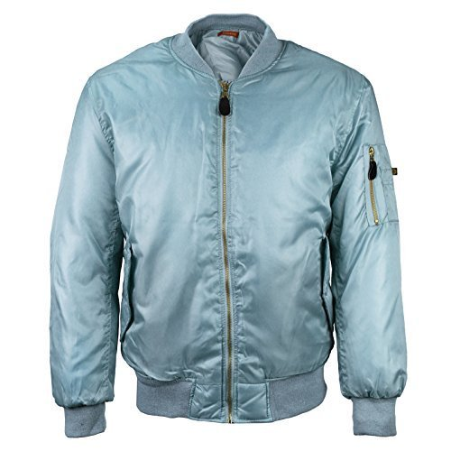 Men's Multi Pocket Water Resistant Padded Zip Up Flight Bomber Jacket (Medium, L