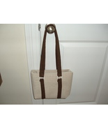 Heavy quilted cotton tote/purse lined  - $21.00