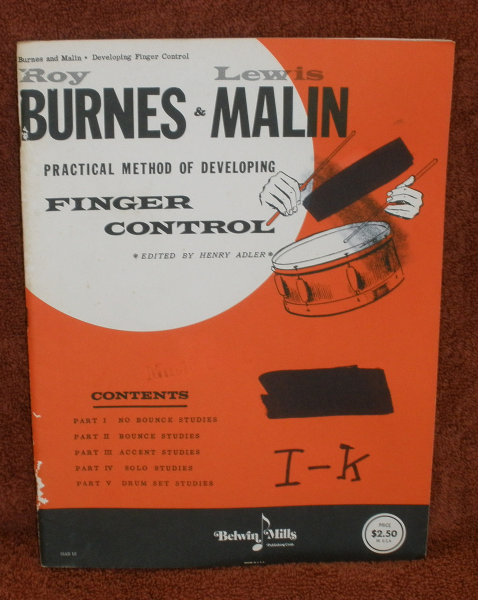 Finger Control by Burnes - Snare Drum Method Belwin Mills Publishing