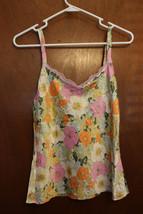 Dana Buchman Floral Silk Tank Top - Size 10 - $9.99