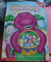 Board Book Barney the Purple Dinosaur - Barney's Easter Party Lift the F... - $1.00