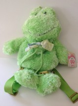 Green Frog Backpack Buddies on the Go Plush Ganz NWT Boy Girl Birthday K... - $22.26