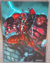 Marvel Deadpool & The Red Hulk Glossy Print 11 x 17 In Hard Plastic Sleeve - $24.99