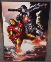 Marvel Iron Man & War Machine Glossy Print 11 x 17 In hard Plastic Sleeve - $24.99