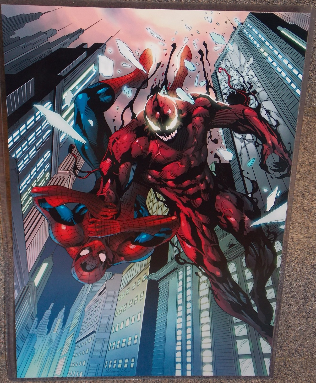 Primary image for Marvel Spider-Man vs Carnage Glossy Print 11 x 17 In Hard Plastic Sleeve