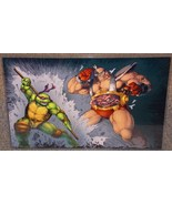 TMNT Donatello vs Krang Glossy Print 11 x 17 In Hard Plastic Sleeve - $24.99