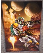 Star Wars Boba Fett Glossy Print 11 x 17 In Hard Plastic Sleeve - $24.99