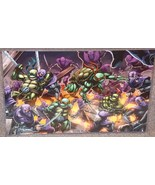 TMNT vs Foot Soldiers Glossy Print 11 x 17 In Hard Plastic Sleeve - $24.99