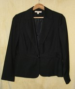 Womens Sz 10   Merona Black One Button Front Short Blazer   - $14.99