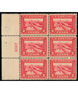 398, Side Plate Block of Six - LH/NH VF - Cat $400.00 -  Stuart Katz - $295.00