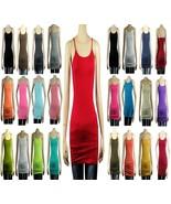 Basic Long SPAGHETTI TANK TOP Adjust Strap Plain Layering Cami Tunic Top... - $4.99