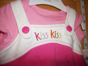Fashion Gift Wishes Kisses Baby Clothes 0M-3M Dress Set Pink Two Kiss Sea Life image 2
