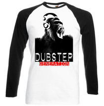 Dub Step Generation  New Graphic Black Sleeved Baseball T Shirt S M L Xl Xxl - $27.61