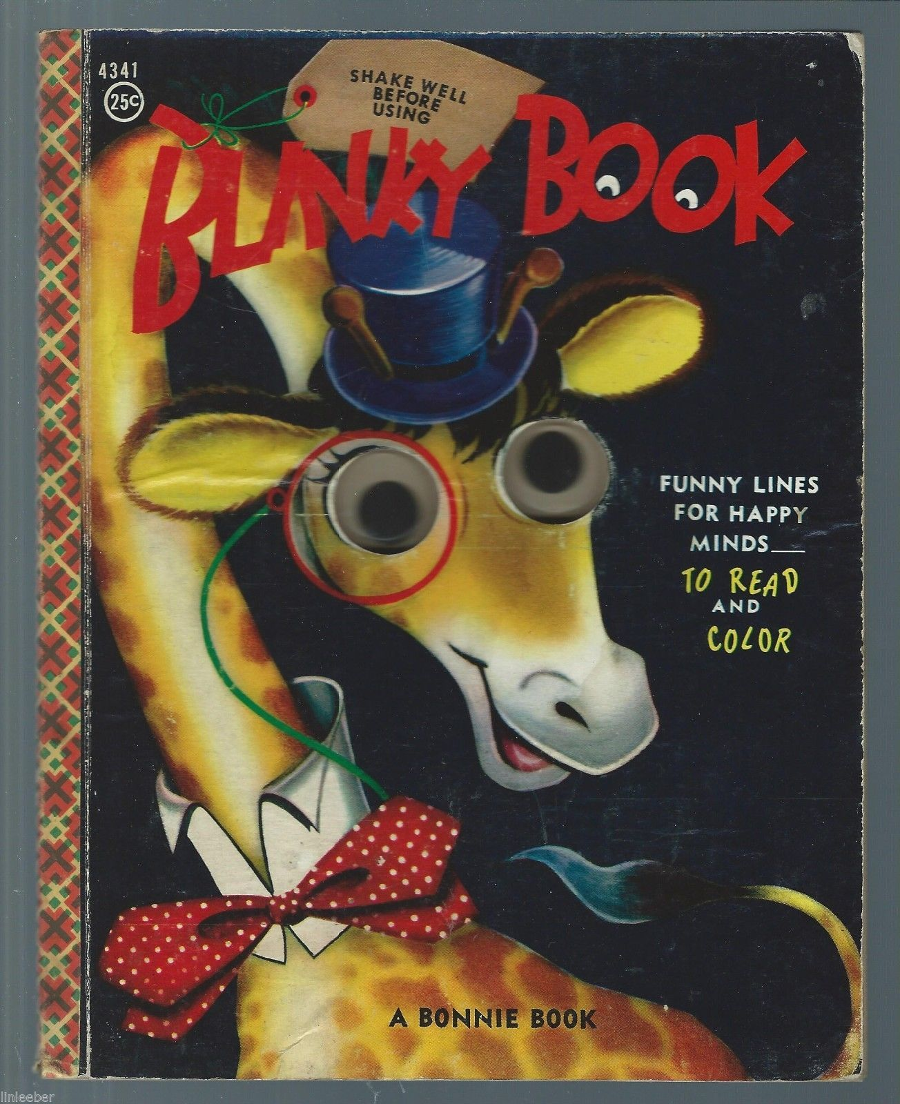 A BONNIE BLINKY BOOK 1956 Funny Lines For And 50 Similar Items