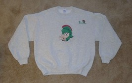 VINTAGE, Michigan State Spartans Embroidered Sweatshirt, Medium, Heather... - $14.99