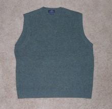 Brooks Brothers, Men's V-Neck Lambswool Sweater Vest, Medium, Gray - $22.49
