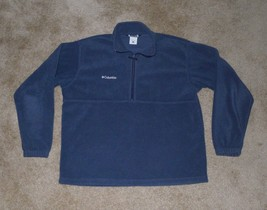 Columbia, Unisex 1/4 Zip Fleece Jacket, Large, Navy Blue - $17.98