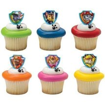 DecoPac Paw Patrol Ruff Ruff Rescue Cupcake Rings, Pack of 24 Assorted R... - $6.88