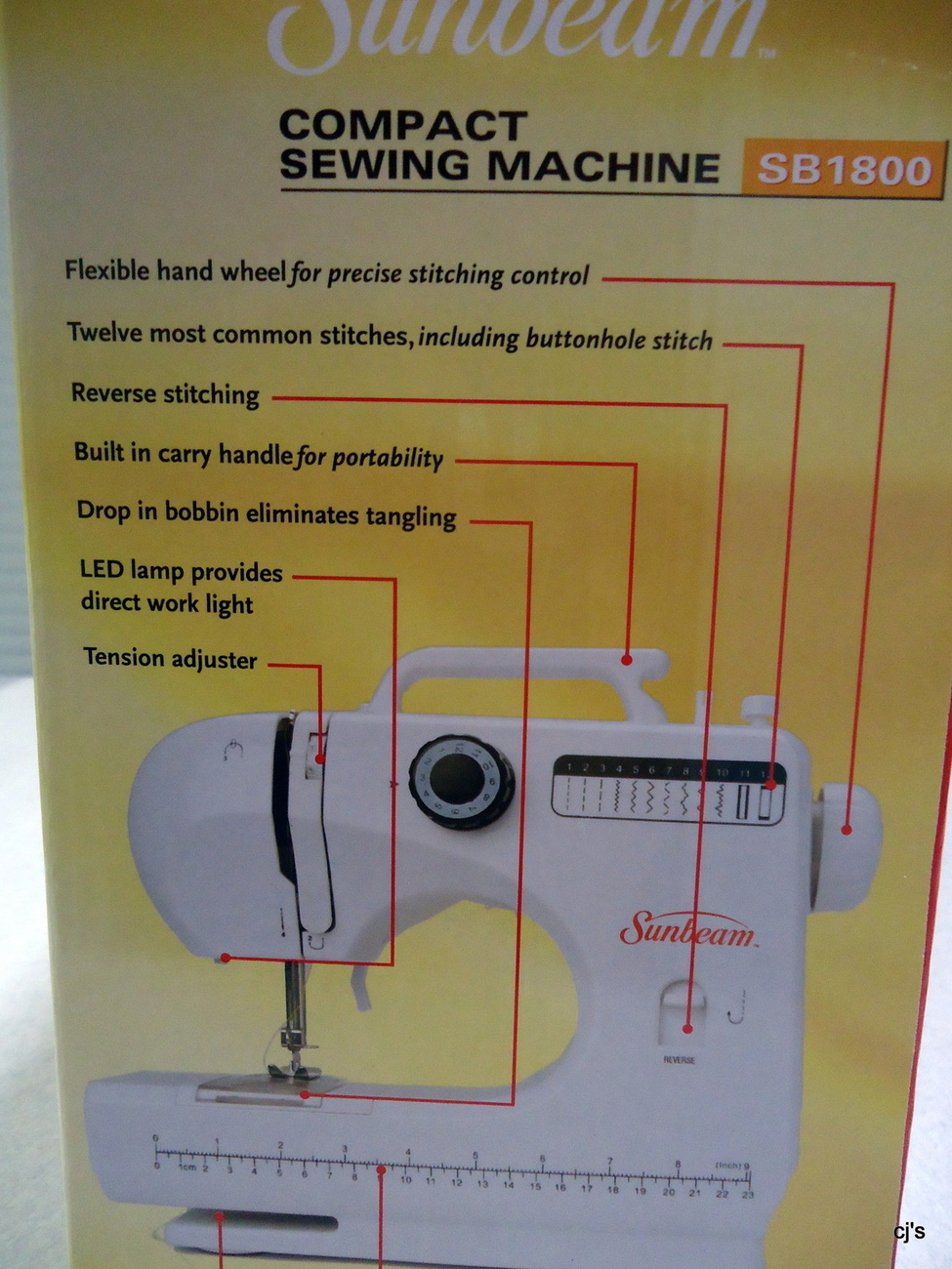 sunbeam compact sewing machine