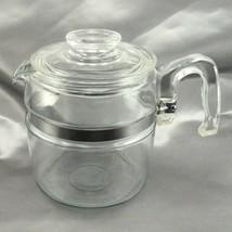 Pyrex 7756B Glass Coffee Pot w/ Lid 6 Cup Vintage Flameware ~ POT ONLY - $44.95